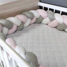 1 M/2 M/3 M Protector de cuna de bebé trenzado nudo almohada amortiguador para bebé Bebe cuna Protector cuna parachoques decoración de la habitación