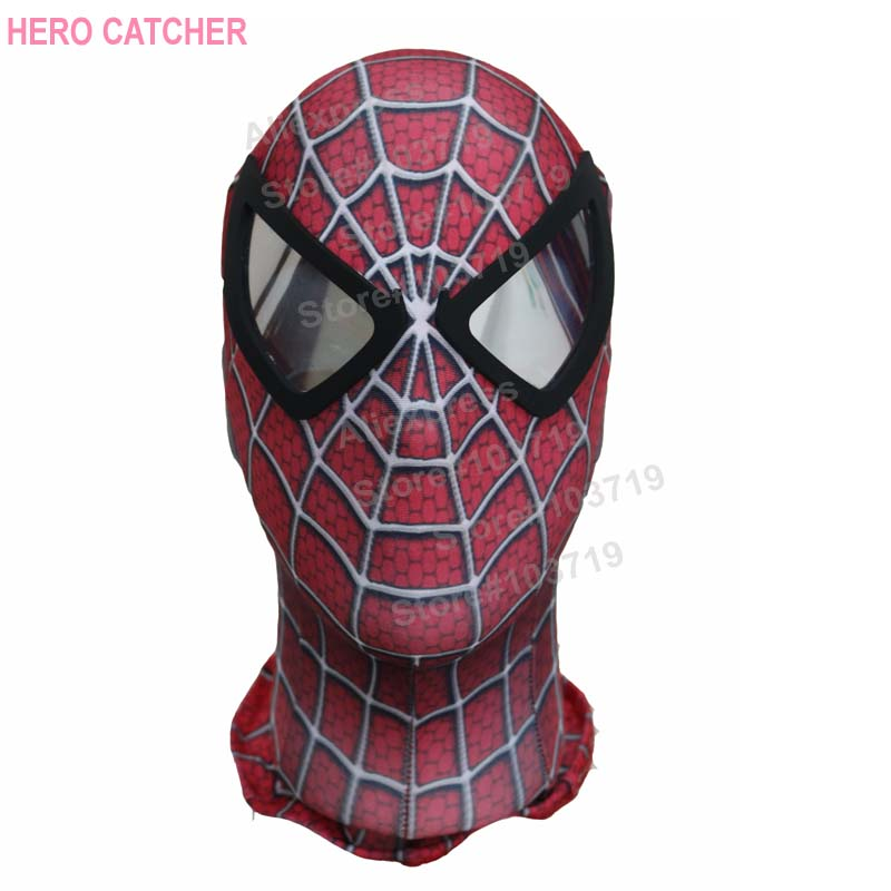 outlet for sale the best no sale tax US $44.59 9% di SCONTO|Hero catcher di alta qualità custom made hero raimi  spider man cosplay maschera di spiderman con lenti nere raimi spdierman ...