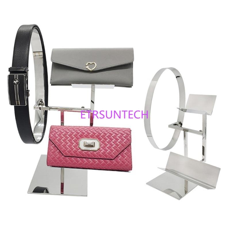 Porte-ceinture en acier inoxydable porte-monnaie porte-sac présentoir porte-monnaie étagère présentoir magasin de vêtements ceinture présentoir