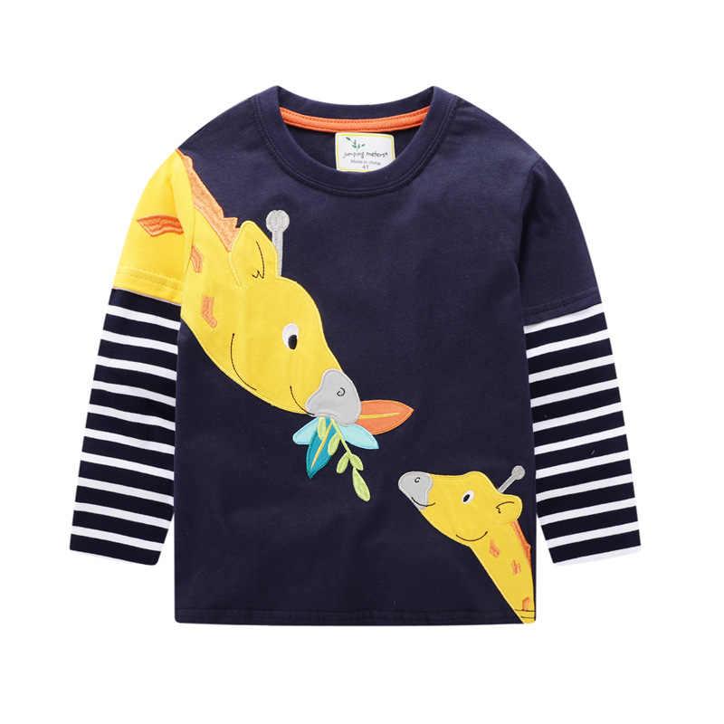 בני חולצת טי חולצות פסים ילדים אביב סתיו ארוך שרוול T חולצה בני חדש קריקטורה חמוד F תינוק הדפסת Tees עבור בני