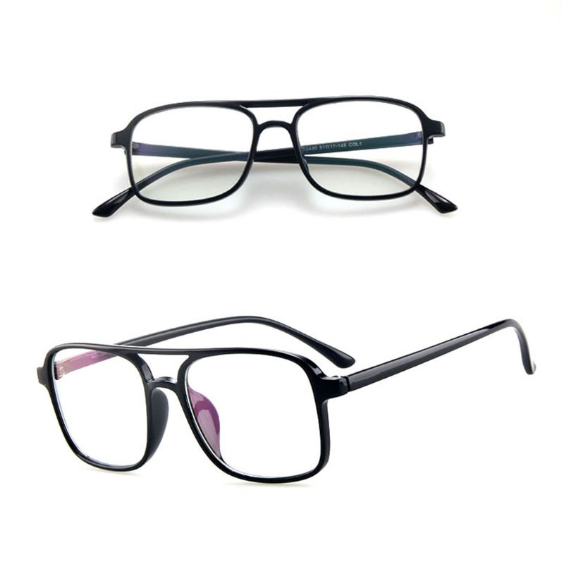 New Optical Glasses Large Frame Fashion Classic Clear Transparent Lens Myopia Lens Women Men Ultralight Eyeglasses