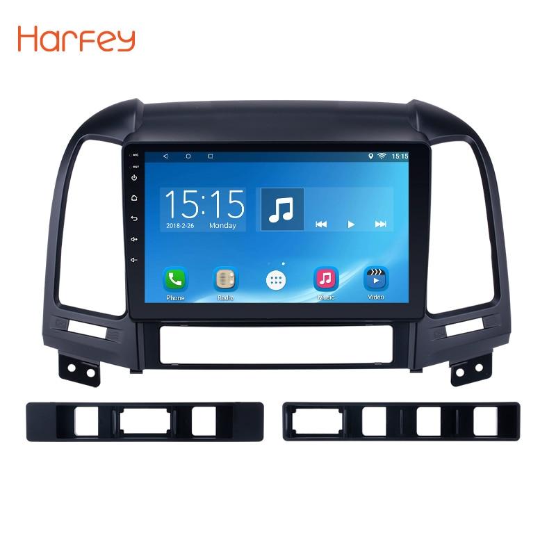 Harfey Android 8.1 9 Car Radio Multimedia Player GPS  Navigation For HYUNDAI SANTA FE 2005 2006 2007 2008 2009 2010 2011 2012