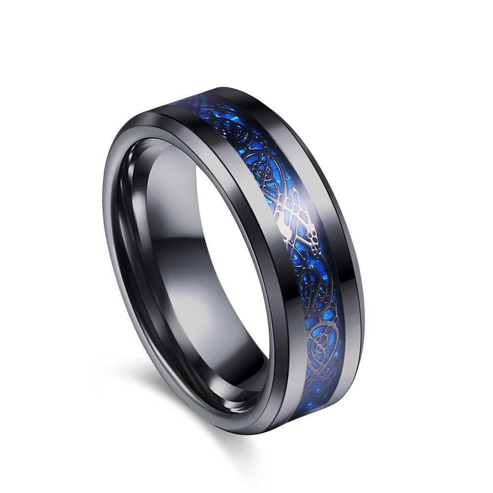 Buy Black 316L Stainless Steel Ring For