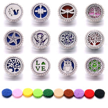 New Aromatherapy 18mm Snap Buttons Perfume Locket Magnetic Stainless Steel Essential Oil Diffuser Button Bracelet Jewelry