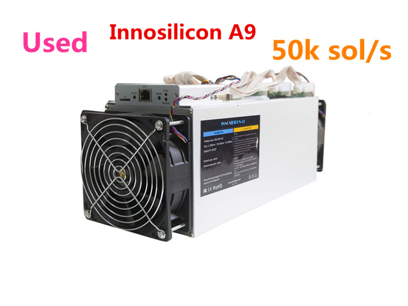 Used Innosilicon A9 ZMaster 50k sol/s Equihash Asic Miner Zcash ZCL ZEC BTG Mining Machine Better Than Antminer Z9 Z9 Mini