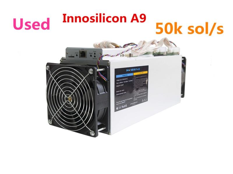 Utilisé Innosilicon A9 ZMaster 50 k sol/s Equihash Asic Miner Zcash ZCL ZEC BTG Machine minière mieux que Antminer Z9 Z9 Mini