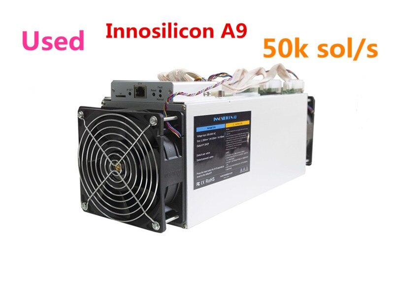 Utilizzato Innosilicon A9 ZMaster 50 k sol/s Equihash Asic Minatore Zcash ZCL ZEC BTG Macchina Mineraria Meglio di antminer Z9 Z9 Mini