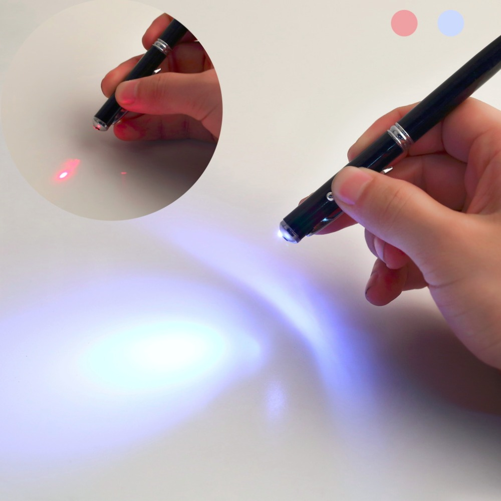 2016 hot selling 1pcs 4 in 1 Laser Pointer LED Torch Touch Screen Stylus Ball Pen for iPhone Promotion! wholesale