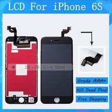 Лучшее Качество Нет Dead Pixel ЖК-Дисплей Для iphone 6 s ассамблея Экран С 3D Сенсорный Дигитайзер Сборки 4.7 дюймов Freeshipping