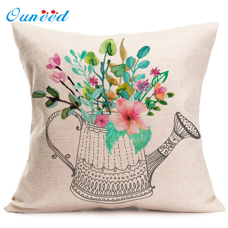 2017 Cushion Cover Fashion Home Decor Cotton Linen Throw Pillow Case Sofa Waist Funda de almohada Ouneed drop shipping 2018