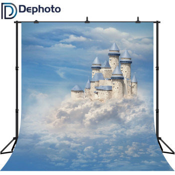 DePhoto Photography Background Fantastic Clouds Sky Castle Fairy Tale Style Backdrop Photo Studio Camera Fotografica