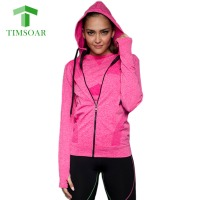 New Women Sports Hoodies Jackets Female Slim Coat For Gym Fitness Jogging Long Sleeve Sweatshirt Dry