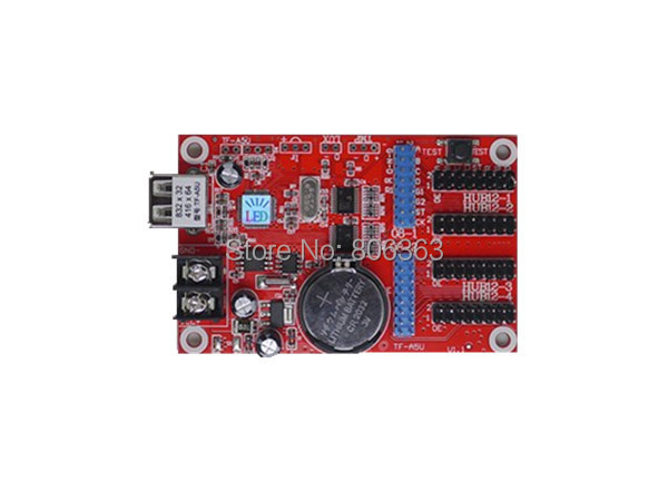 TF-A5U LED Display Control Card,Single & Dual Color Support,Smal USB Flash Driver Controller