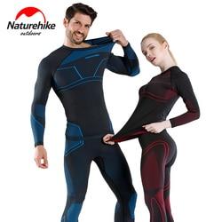 Naturehike winter women men snowboard thermal underwear quick-drying sports hiking shirt pants set skiing clothes long johns