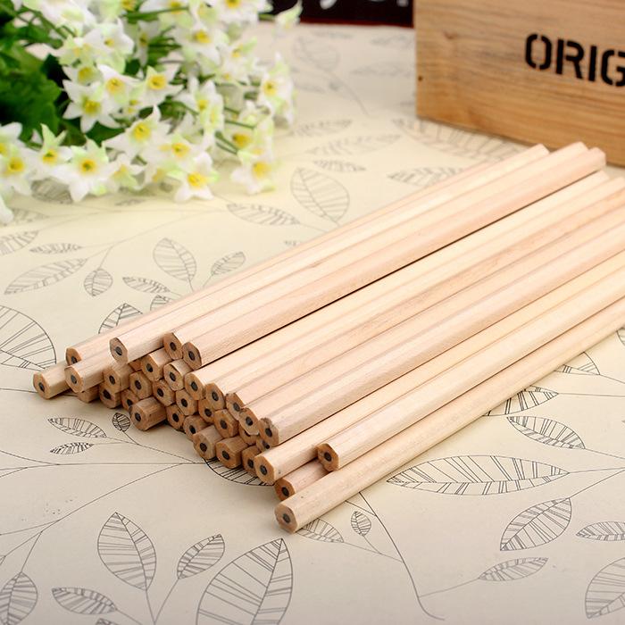 10 lápices hexagonales MADERA ecologica escuela colegio estudiar escribir 5