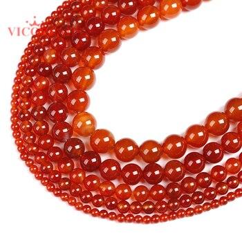 Carnelian, круглые бусины из натурального камня, красные Агаты, 4, 6, 8, 10, 12 мм, браслет, ожерелье, ручная работа, бисер для самостоятельного изготовления ювелирных изделий