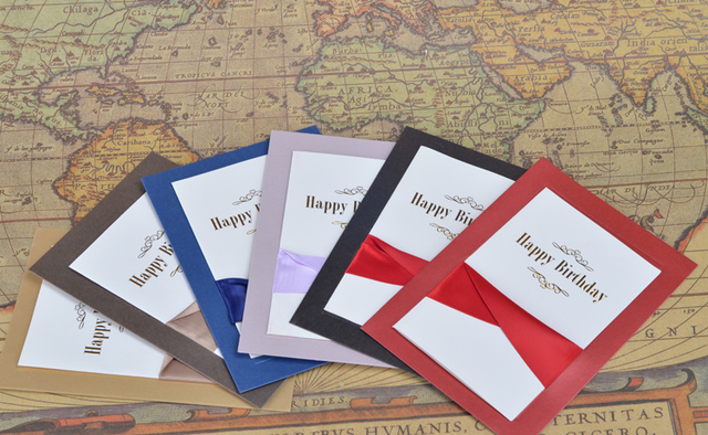 Free Shipping 5pcs Of Handmade Happy Birthday Cards Gift Card