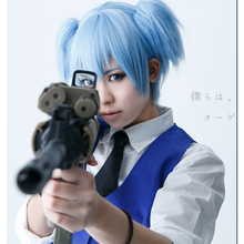 Anime Assassination Classroom Cosplay Wig Shiota Nagisa Blue Synthetic Hair