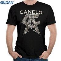 GILDAN Top Tee Voor Koop Natuurlijke Katoen Shirts Maggo Klassieke Logo Canelo Alvarez Cool T-shirts Heren