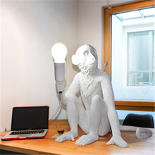 Simple modern restaurant chandelier creative art animal monkey hemp children bedroom bar decorated chandelier