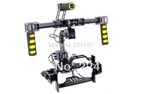 3 axis Brushless Gimbal Carbon Fiber Handheld Camera Mount w/Hollow Motor & AlexMos Gimbal Driver for 5D 7D Cameras Photography