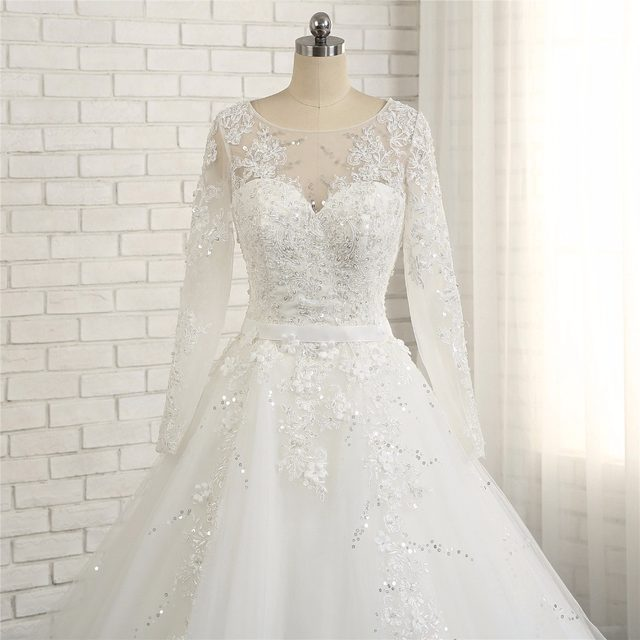 Online-Shop Vestido casamento zivilen 2018 Modest Long Sleeve High ...