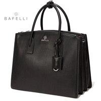 BAFELLI Новое поступление 2018 года пояса из натуральной кожи сумка для ноутбука Высокое ёмкость портфель черный bolsa feminina для женщин