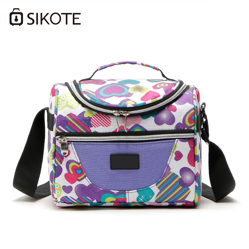 SIKOTE Portable Thermal Lunch Bags for Women Kids Men Insulated Tote Bag Storage Container Multifunction Food Picnic Cooler Box shoulder lunch bag tote women kids thermal insulated cooler storage picnic food drink bento box accessory supply products stuff