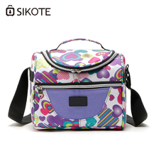 SIKOTE Portable Thermal Lunch Bags for Women Kids Men Insulated Tote Bag Storage Container Multifunction Food Picnic Cooler Box veevanv fire skull thermal lunch box women storage container thermo lunch bags men portable food picnic bag insulated cooler bag