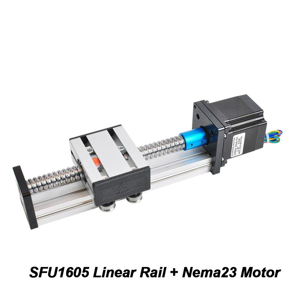Guide de Rail linéaire 600 MM/700 MM longueur de course efficace Module Table SFU1605 Guide de Rail de vis à billes avec moteur pas à pas Nema23