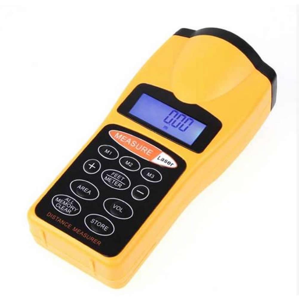 18M 60FT LCD Ultrasonic Laser Pointer Distance Measurer Range Finder Device|Laser Rangefinders| |  - title=