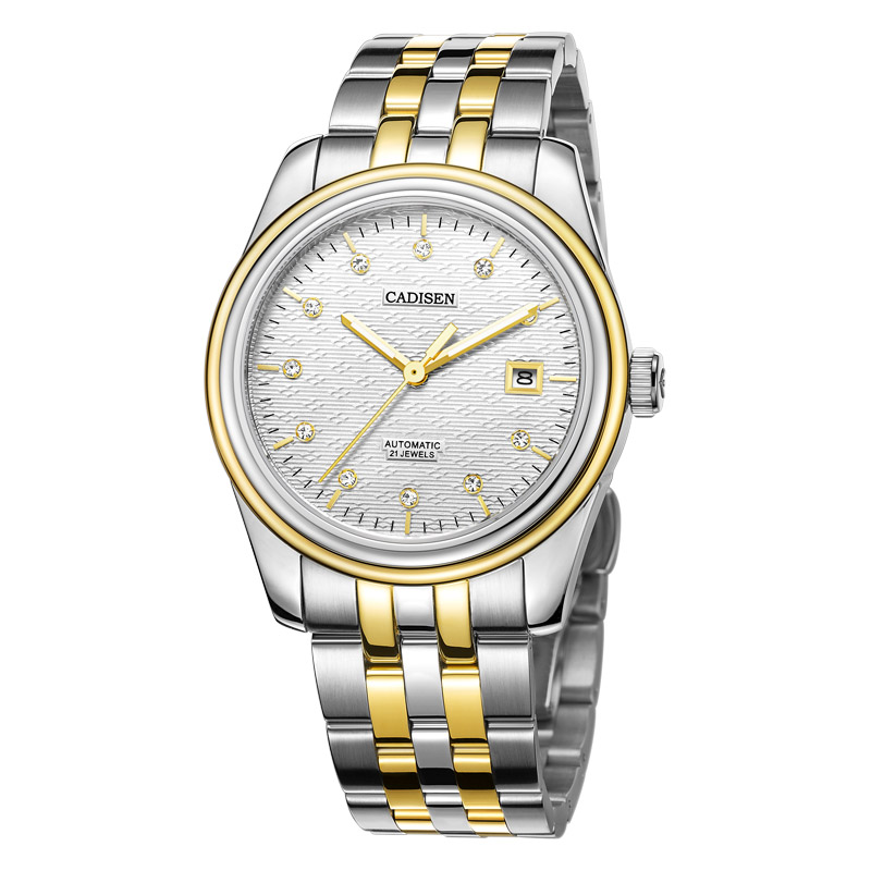 CADISEN Watch Men Top Brand Automatic Mechanical Watches Fashion Luxury Watch Waterproof Luminous Steel Sport Casual Wristwatch цена