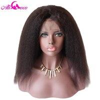 Али Коко бразильский странный прямо Full Lace парики 8 24 дюймов натуральный Цвет 130%/150% человеческих волос парики