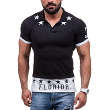 2017 Men Fake two pieces T-shirts Men patchwork Tops Outwear White Black Star Letter Print Tees Short Sleeve Male Brand Clothing