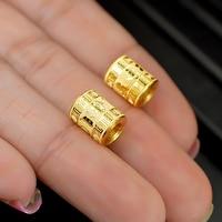 Puro 24 K oro amarillo suelta Cuentas pulsera 1 unids 1.4G
