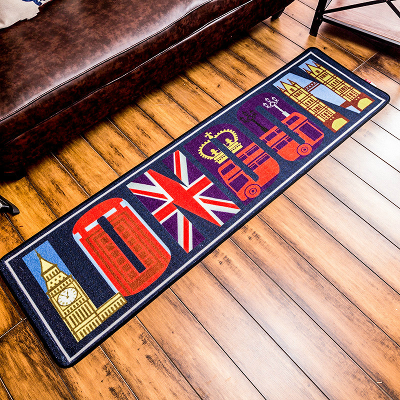 Personality Hallway Mats Anti Slip Door Carpet Kitchen Balcony Rugs China Mainland