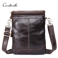 CONTACT S Genuine Leather Men Bags Business Male Messenger Bag Designer Handbags High Quality Famou Brand