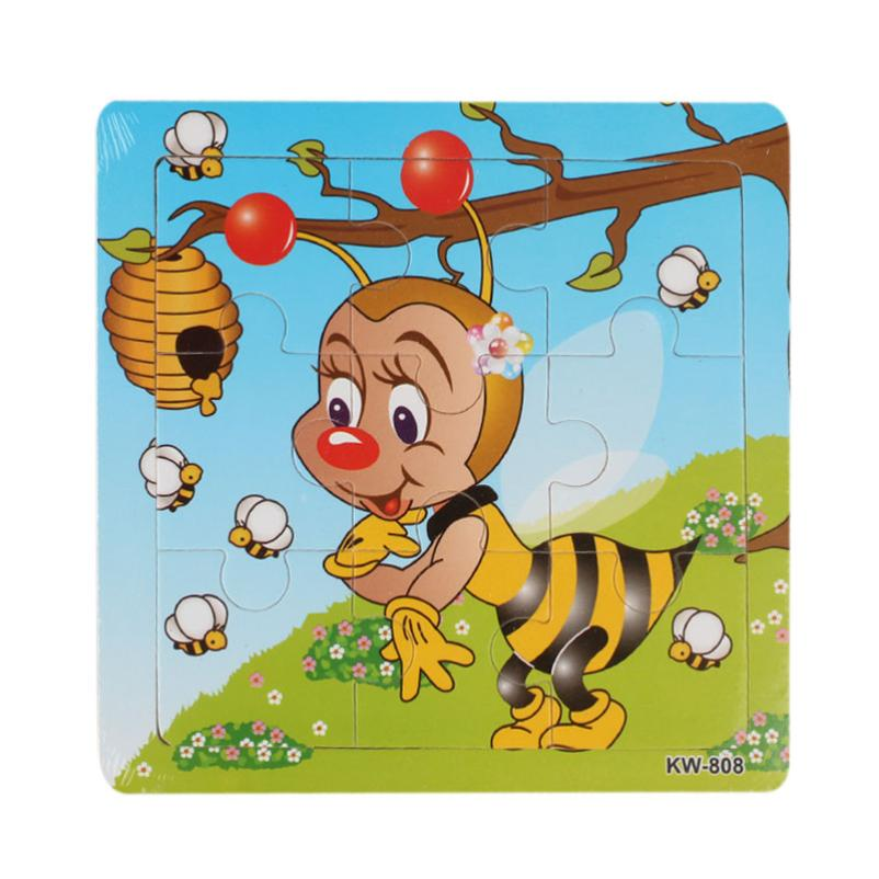 Bee Wooden jigsaw puzzles for children kids toys Education And Learning Princess toys for children Baby