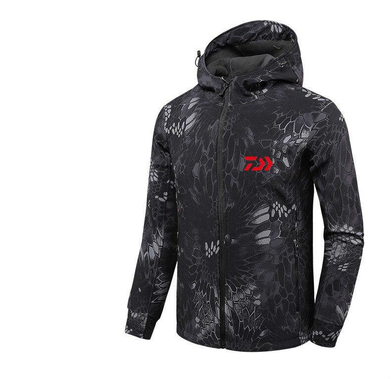 2020 DAIWA Fishing Shirts Autumn Winter Warm Outdoor Fishing Jackets Sport Fleece Hooded Fishing Jacket Fishing Clothes