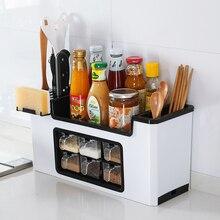 Multi-function seasoning box rack meal knife fork spice kitchen storage rack spice supplies seasoning storage tank set ZP3141446