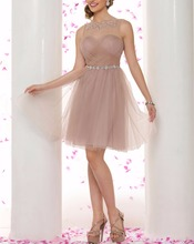 Sexy spitze dress plus dize backless immer ziemlich kurz Party Strass Cocktailkleider Tüll Vestido De Festa Curto De Luxo