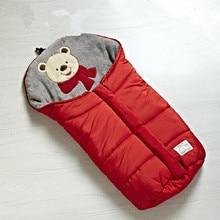 Livraison gratuite Bébé amical sac de couchage multifonctionnel détient bébé couvertures style bébé poussette sac de couchage 82 cm longueur