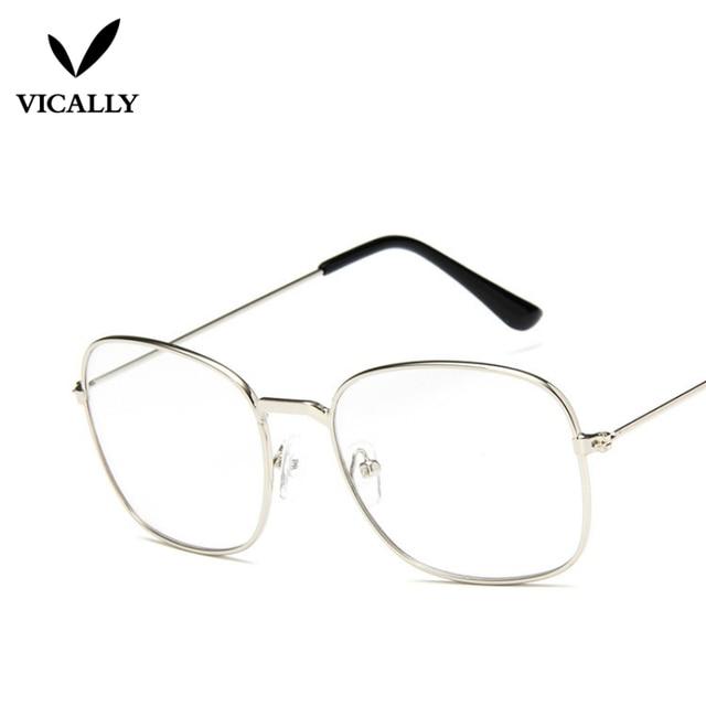 e4aca0823 Men women Glasses Clear Sunglasses Retro Metal Frame Eyeglasses Clear Lens Glasses  Male Female Optical Circle