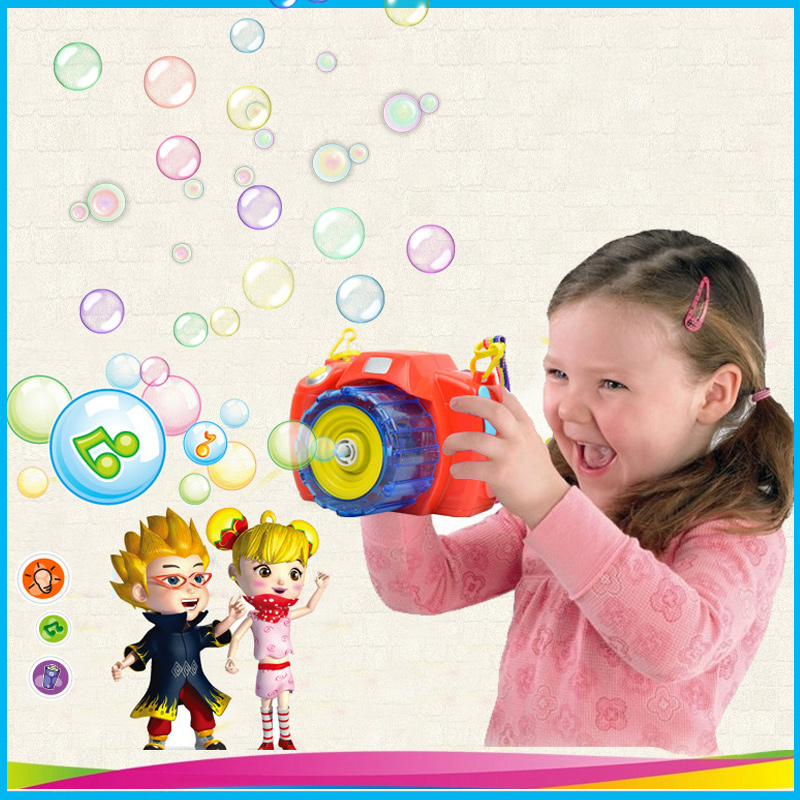 Hot Electric Bubble Gun Camera Machine LED Light Music Automatic Bubble Maker Summer Water Fun Bath Toys Children Toy Kids Gift in Bubbles from Toys Hobbies
