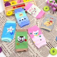 5 Pairs Cartoon Elbow Baby Child Kneepad Baby Motion Kneepad Crawl Defence Fall Defence Knock Protective