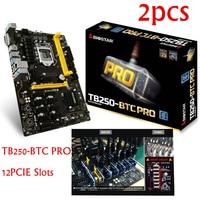 CNKESIN 2pcs TB250 BTC PRO New In Box 12PCIE Biostar TB250 BTC TB250 1151 DDR4 Mining