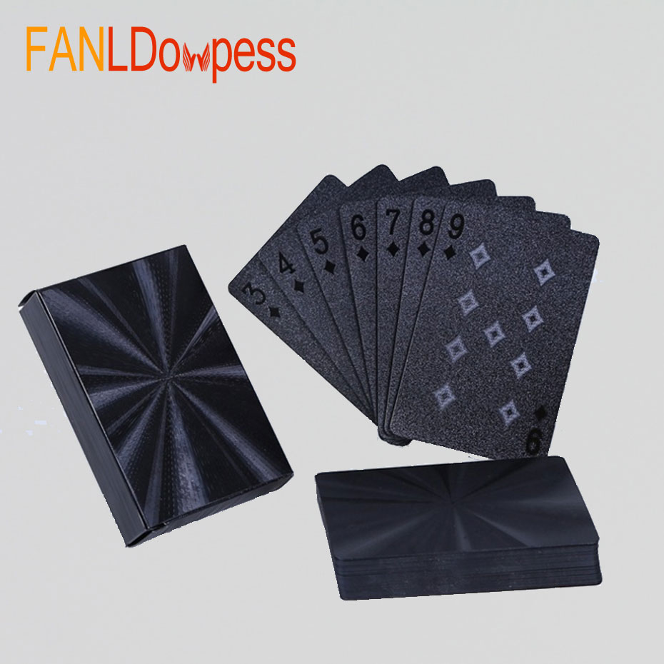 High Quality Waterproof Black Playing Cards Plastic Poker Limited Edition Collection Diamond Poker Cards Creative Gift Standard quality plastic poker waterproof black playing cards limited edition collection diamond poker cards creative gift standard
