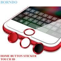 100 PCS Tactile ID Aluminium Accueil Bouton Autocollant D'empreintes Digitales Soutien Pour iPhone 5 5S SE 5C 6 6 S 6 Plus 7 7 Plus Avec Détail emballage