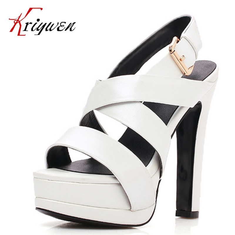 ФОТО 2016 summer new arrival fashion women shoes open toe ultra 14cm high heels ladies sandals genuine leather female casual shoes