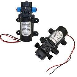 Dc 12 v 60 w micro bomba de água do diafragma irrigação jardim de alta pressão 18mm 1/2